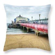 Bournemouth Pier Throw Pillow