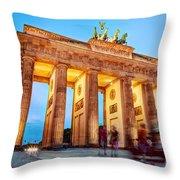 Brandenburg Gate Berlin Germany Throw Pillow
