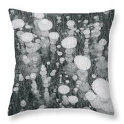 Bubbles In Ice On Abraham Lake Throw Pillow