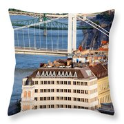 Budapest Cityscape Throw Pillow
