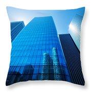 Business Skyscrapers Throw Pillow by Michal Bednarek