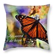 Butterfly Scripture Throw Pillow