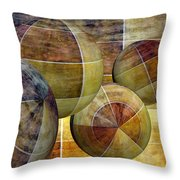 5 By 5 Gold Worlds Throw Pillow