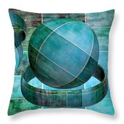 5 By 5 Ocean Geometric Shapes Throw Pillow