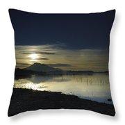 Calm Sunset Throw Pillow
