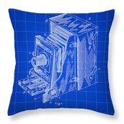 Camera Patent 1887 - Blue Throw Pillow