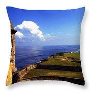 Castillo De San Cristobal Throw Pillow