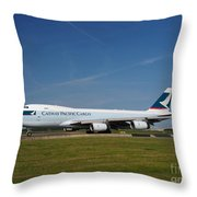 Cathay Pacific Boeing 747 Throw Pillow