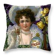 5 Cent Coca Cola - 1890 Throw Pillow