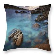 Chanteiro Beach Galicia Spain Throw Pillow