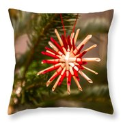 Christmas Tree Ornaments Throw Pillow