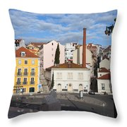 City Of Lisbon In Portugal Throw Pillow