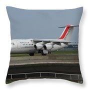 Cityjet British Aerospace Avro Rj85 Throw Pillow