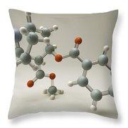Cocaine Molecule Throw Pillow