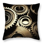 Cogs Throw Pillow