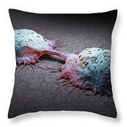 Colon Cancer Cells Throw Pillow