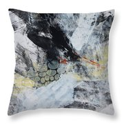 Composition On Black And White Throw Pillow