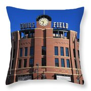 Coors Field - Colorado Rockies Throw Pillow