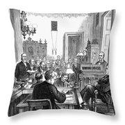 Cornelius Vanderbilt Throw Pillow