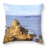 Cornwall - Land's End Throw Pillow
