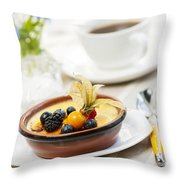 Creme Brulee Dessert Throw Pillow