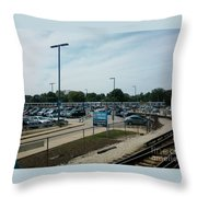 Cta's Retired 2200-series Railcar Throw Pillow