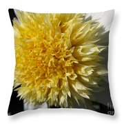 Dahlia Named Platinum Blonde Throw Pillow