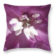 Delphinium Named Magic Fountains Lilac Pink Throw Pillow