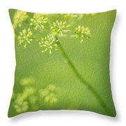 Dill Flower Throw Pillow