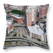 Downtown Providence Rhode Island Throw Pillow