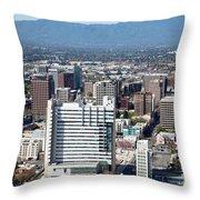 Downtown San Jose California Throw Pillow