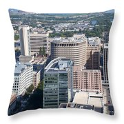 Downtown Skyline Of Wilmington Throw Pillow