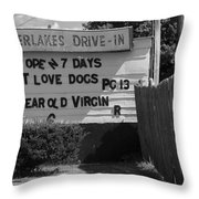 Drive-in Theater Throw Pillow