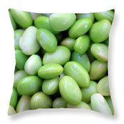 Edamames Throw Pillow