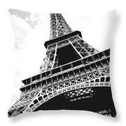 Eiffel Tower Throw Pillow by Elena Elisseeva