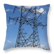 Electricity Pylon Throw Pillow