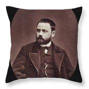 Emile Zola (1840-1902) Throw Pillow