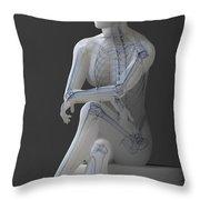 Female Anatomy Throw Pillow