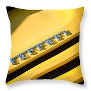 Ferrari F355 Emblem Throw Pillow