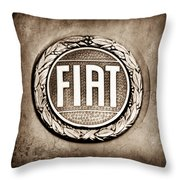 Fiat Emblem Throw Pillow