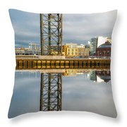 Finnieston Crane Glasgow Throw Pillow