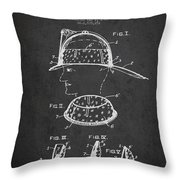 Firefighter Headgear Patent Drawing From 1926 Throw Pillow