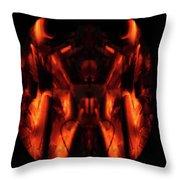 Flame Art Throw Pillow