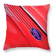 Ford Emblem Throw Pillow