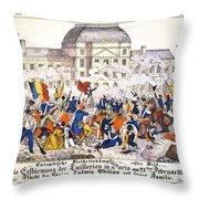 France Revolution, 1848 Throw Pillow