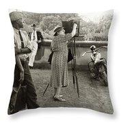 Frances Benjamin Johnston (1864-1952) Throw Pillow