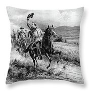 George Armstrong Custer (1839-1876) Throw Pillow