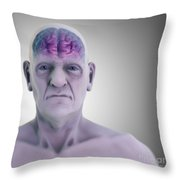 Geriatric Brain Throw Pillow