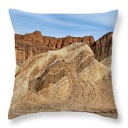 Golden Canyon Death Valley National Park Throw Pillow
