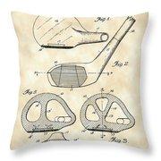 Golf Club Patent 1926 - Vintage Throw Pillow
